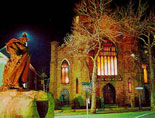 salem witch museum outside view at night