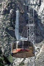 outside of aerial tramway outdoor activity in palm springs