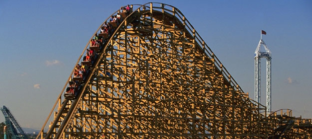 Wooden Roller Coaster at Knotts Berry Farm