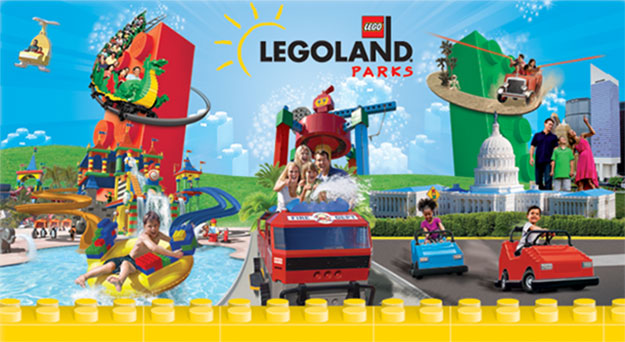 Family enjoying rides at Legoland