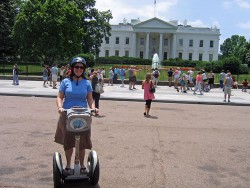 Lady on Segway In Front of White House