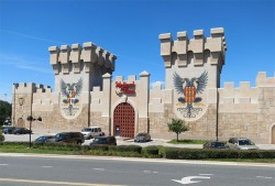 Outside Medieval Times On A Sunny Day