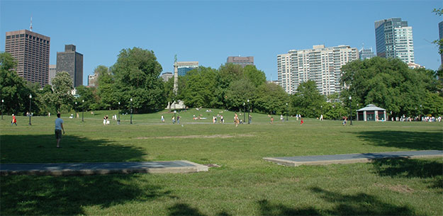 Nice Sunny Day at Boston Common