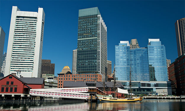 Boston Tea Party Museum and Skyline