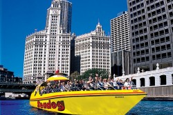 Seadog Speedboat Cruising Chicago River
