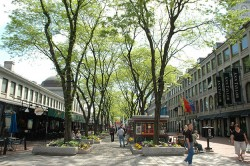 Shopping at Faneuil Hall Marketplace
