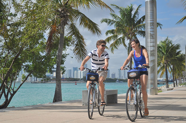 Couple Biking on Key Biscayne