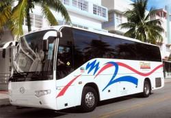 Sightseeing Tour Bus on Miami Beach