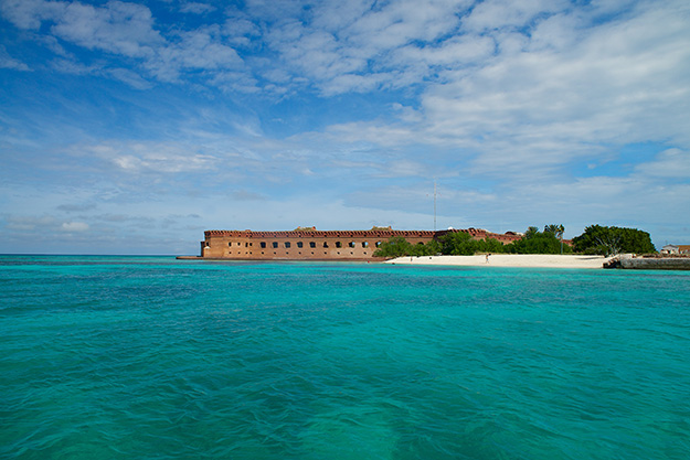 Fort Jefferson in the Summer