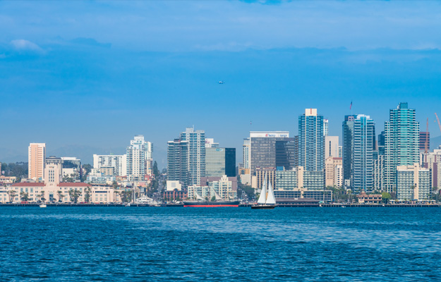 San Diego Skyline from water