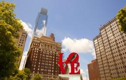 Love Park Philadelphia Cityscape