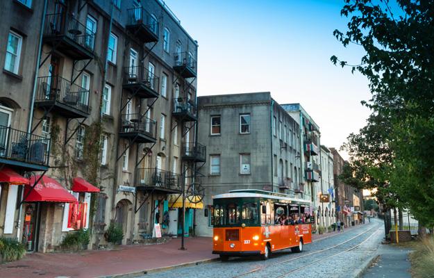 Savannah Trolley River Street