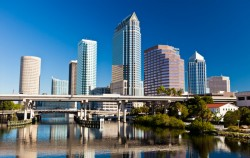 skyline view of downtown tampa during a weekend getaway from naples fl