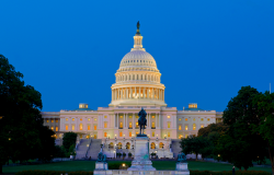 united states capitol lit up at night outdoor in washington dc