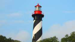 top of st augustine lighthouse, seen on st augustine dolphin tour
