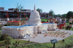 capitol building built out of legos at legoland san diego on vacation