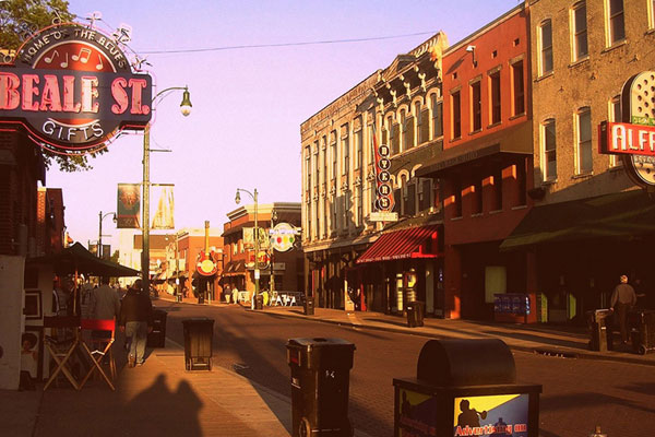Beale Street at Sunset