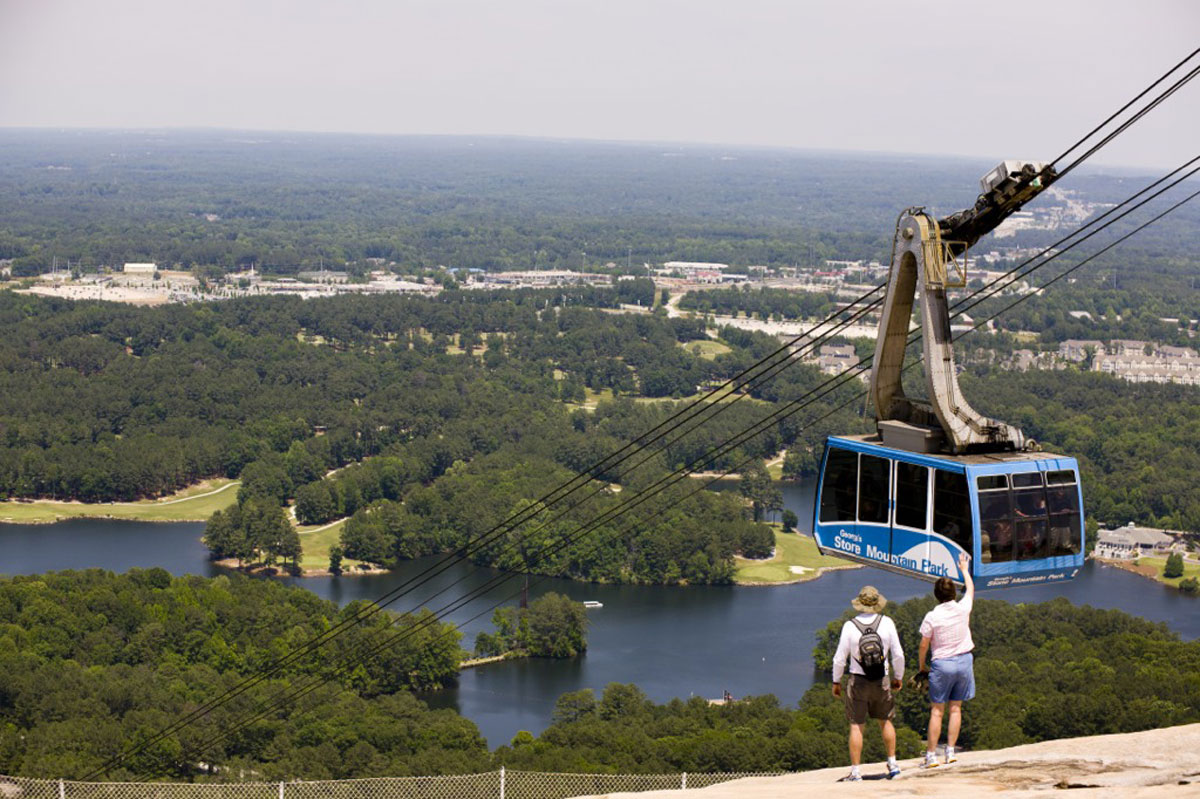 Cable Car in Stone Mountain Theme Park
