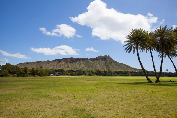 Diamond Head Volcano in Honolulu