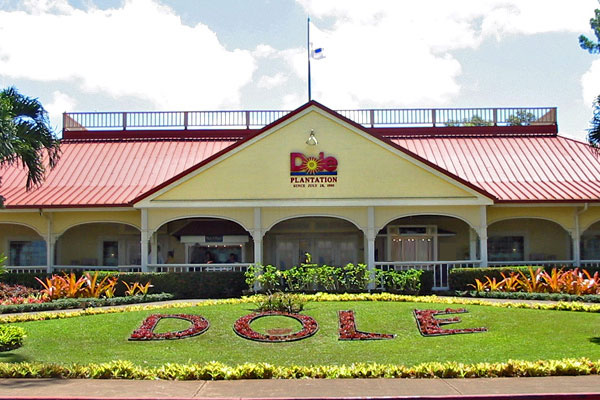 Honolulu Dole Plantation entrance and landscaping