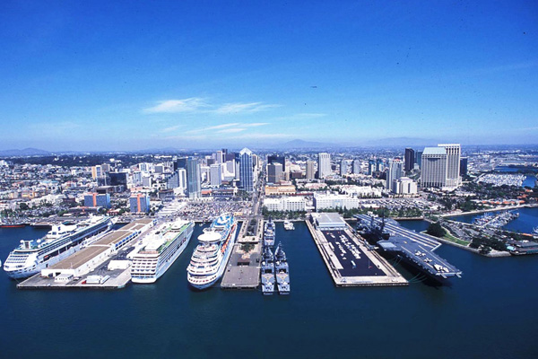 San Diego USS Midway Museum Aerial View