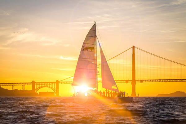 California Sunset Sail at Golden Gate Bridge