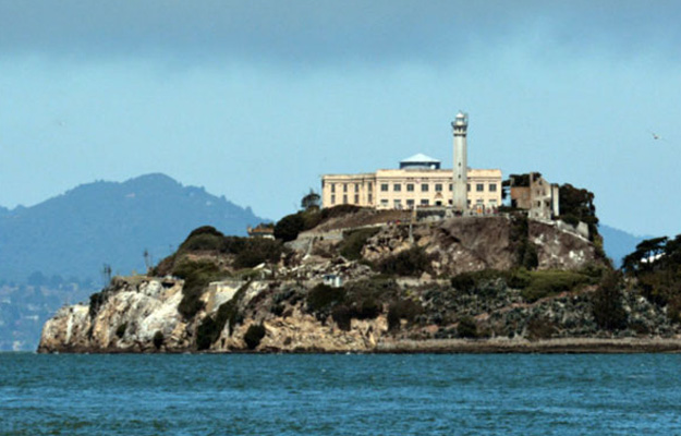 View of Alcatraz from San Francisco Bay