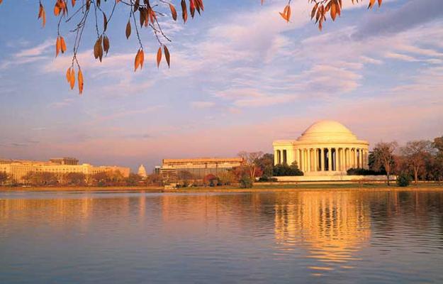 View of Washington DC Historic Landmarks and Monuments